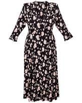 Scarlett & Jo High Collar V Neck Dress