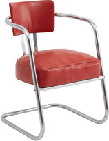 Rejuvenation Chrome Lounge Chair w/ Original Red Vinyl Upholstery