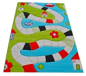"IVI Playway Soft Nursery Rug with a Playful Design - 59""L x 39""W"