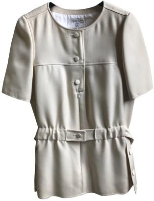 Courreges Ecru Wool Top for Women Vintage