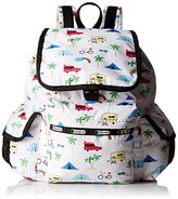 Le Sport Sac Voyager Back pack, Roadtrip Vaca Cream, One Size