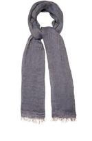 Brunello Cucinelli Chevron linen scarf