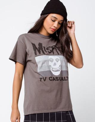 Icons The Vinyl Misfits Skull Womens Boyfriend Tee