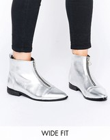 Asos ALBIE Wide Fit Pointed Ankle Boots