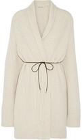 Helmut Lang Oversized Belted Wool-Blend Cardigan