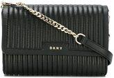 DKNY ribbed crossbody bag - women - Lamb Skin - One Size