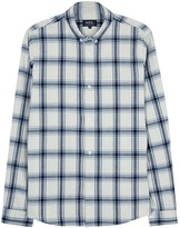 A.p.c. Off White Checked Cotton Shirt