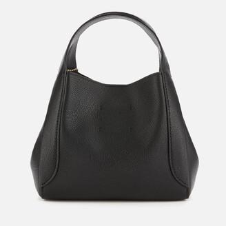 Coach New York Coach Women's Polished Pebble Leather Hadley Hobo 21 - Black