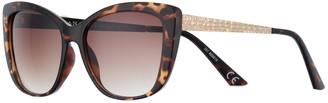 Dana Buchman Women's 55mm Crocodile Temple Large Cat Eye Gradient Sunglasses