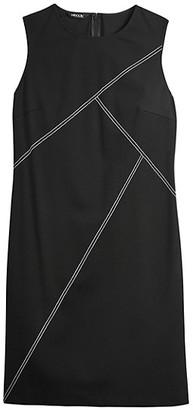 Misook Contrast Stitch Ponte Sheath Dress