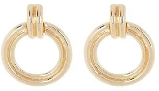 Halogen Double Post Front Hoop Earrings