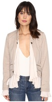 Free People Romantic Ruffles Twill Jacket Women's Coat