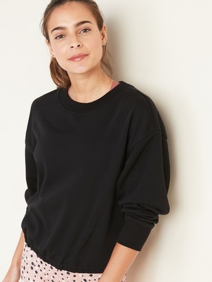 Old Navy Loose French-Terry Tie-Back Sweatshirt for Women