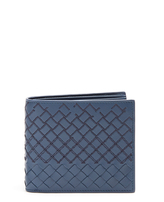 Bottega Veneta Intrecciato-stitched leather wallet