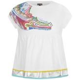 Girls White Crocodile Print Dress