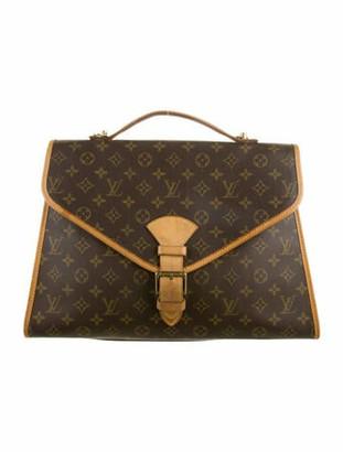 Louis Vuitton Monogram Beverly Briefcase GM Brown
