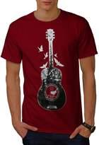 Guitar Forest Bird Music Tree Men XXXL T-shirt   Wellcoda