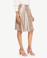 Ann Taylor Sequin Flare Skirt