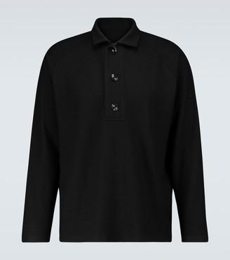 Winnie N.Y.C Oversized long-sleeved polo shirt