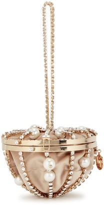 Rosantica Afrodite crystal-embellished top handle bag