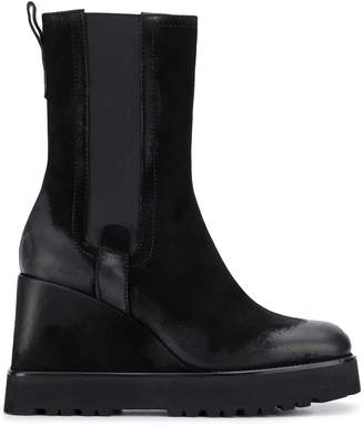 Premiata mid-calf wedge boots