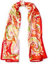 Ralph Lauren Maya Paisley Silk Twill Scarf