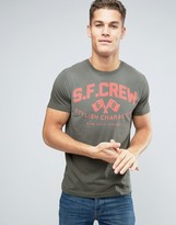 Esprit T-Shirt with Graphic Print in Washed Cotton