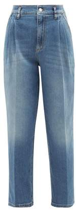 RED Valentino High-rise Pleated Tapered Jeans - Womens - Denim