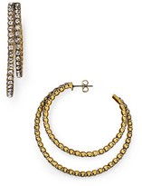 Marc Jacobs Crystal Statement Hoop Earrings