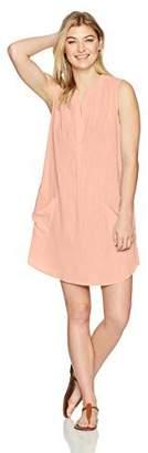 Seafolly Women's Sleeveless Boyfriend Beach Shirt Swimsuit Cover Up Palm Peach Melba Small