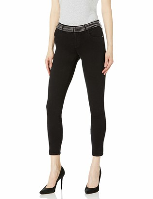 GUESS Women's Sexy Curve Stretch Mid-Rise Skinny Fit Jean with Crystal Waistband