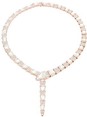 Bvlgari Rose Gold, Diamond and Mother of Pearl Serpenti Necklace