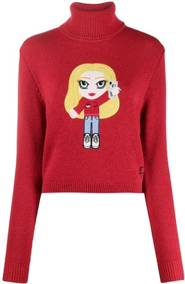 Chiara Ferragni Motif-Embroidered Knitted Jumper