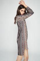 BCBGeneration Long-Sleeve Geo-Print Shirt Dress