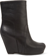 Rick Owens Textured-leather wedge ankle boots