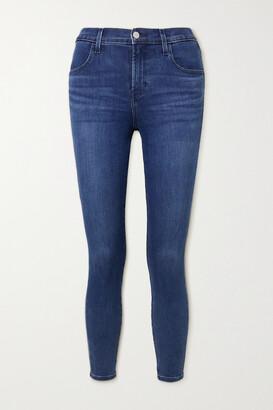 J BRAND - Alana Cropped High-rise Skinny Jeans - Blue