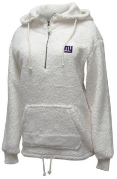 5th & Ocean Women's New York Giants Sherpa Quarter-Zip Pullover