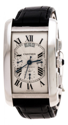 Cartier Tank AmAricaine White White gold Watches