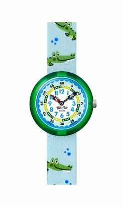 Flik Flak Kids' 2004 Pool in Miami Swiss Quartz Watch with Textile Strap Blue 14 (Model: ZFBNP153)