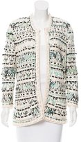 Oscar de la Renta Silk Crocheted Jacket