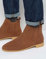 Brave Soul Chelsea Boots In Tan