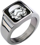Star Wars Stormtrooper Square Top Stainless Steel Ring - 11