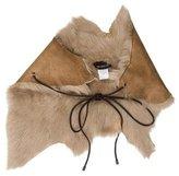 Karl Donoghue Suede Fur-Trimmed Shawl