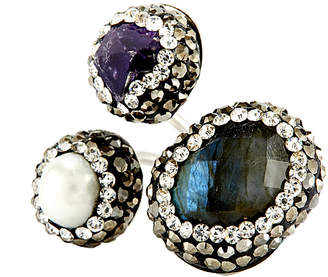 LA Ink Eye Candy Los Angeles Eye Candy Pearl Amethyst Abalone Shell Hematite And