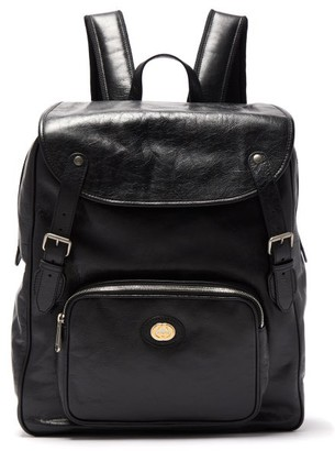 Gucci Morpheus Leather Backpack - Black