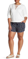 Jolt Printed Linen Blend Short (Plus Size)