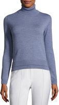ADAM by Adam Lippes Double-Face Wool Turtleneck Sweater, Light Blue