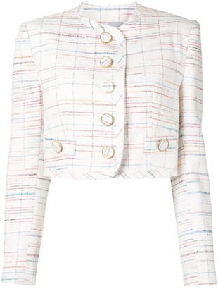 George Keburia Cropped Button Jacket