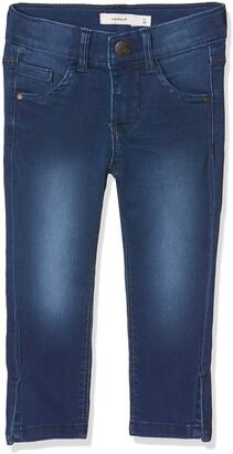 Name It Girl's Nkfpolly Dnmtasanne 2195 Capri Jeans