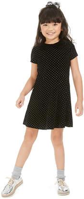 Epic Threads Toddler Girls Velvet Collar Dress